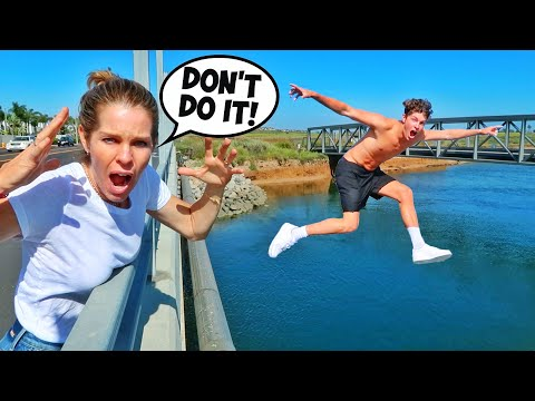 MOM REACTS TO CRAZY DARES! (she was mad...)