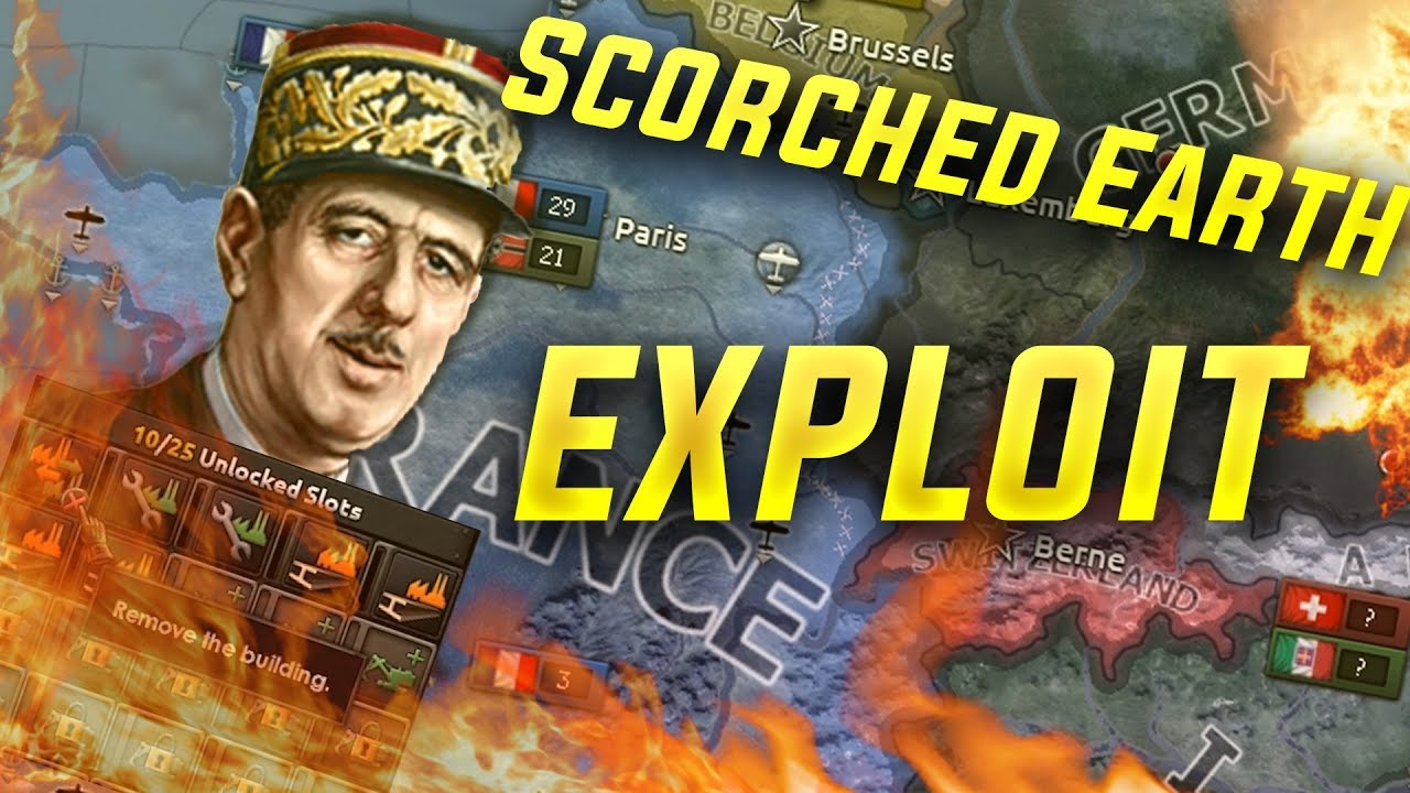 HOI4 Exploit: Scorched Earth as any Nation (hearts of iron 4 Waking the  Tiger Good Exploits)