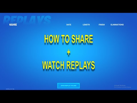 How To Watch And Share Fortnite Replays