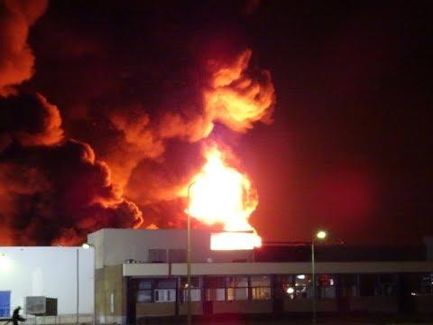 Zeer grote brand op Industrieterrein in Tilburg. 20-09-2019