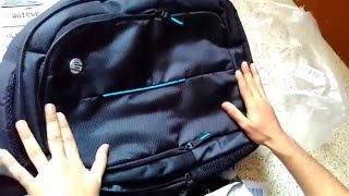 HP Entry Level Backpack (Black) unboxing of amazon