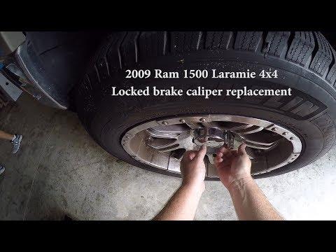 Dodge Ram Brake Caliper  Locked and Smoking DIY Repair