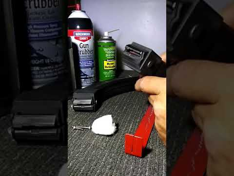 Ruger BX25 magazine spring cleaning