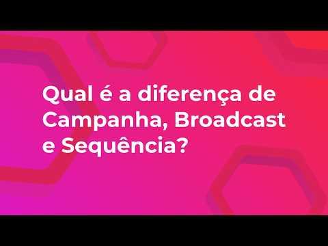 09 - Qual a diferença de Campanha, Broadcast e Sequência
