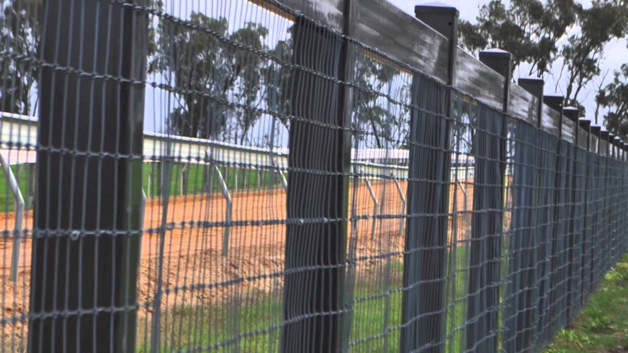 Think Fencing installation of a custom fence for BC3 Thoroughbreds ...