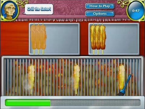 เกมส์ทำอาหารไทย ไก่สะเต๊ะ - Chicken Satay Cooking Game サテ,사테