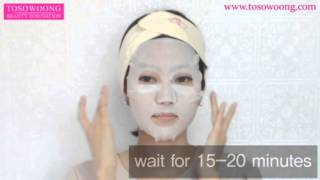 [TOSOWOONG]Three-system masksheet 10PC/Mask pack/Essence Facial/moisturizing nutrition/cosmetics Thumbnail