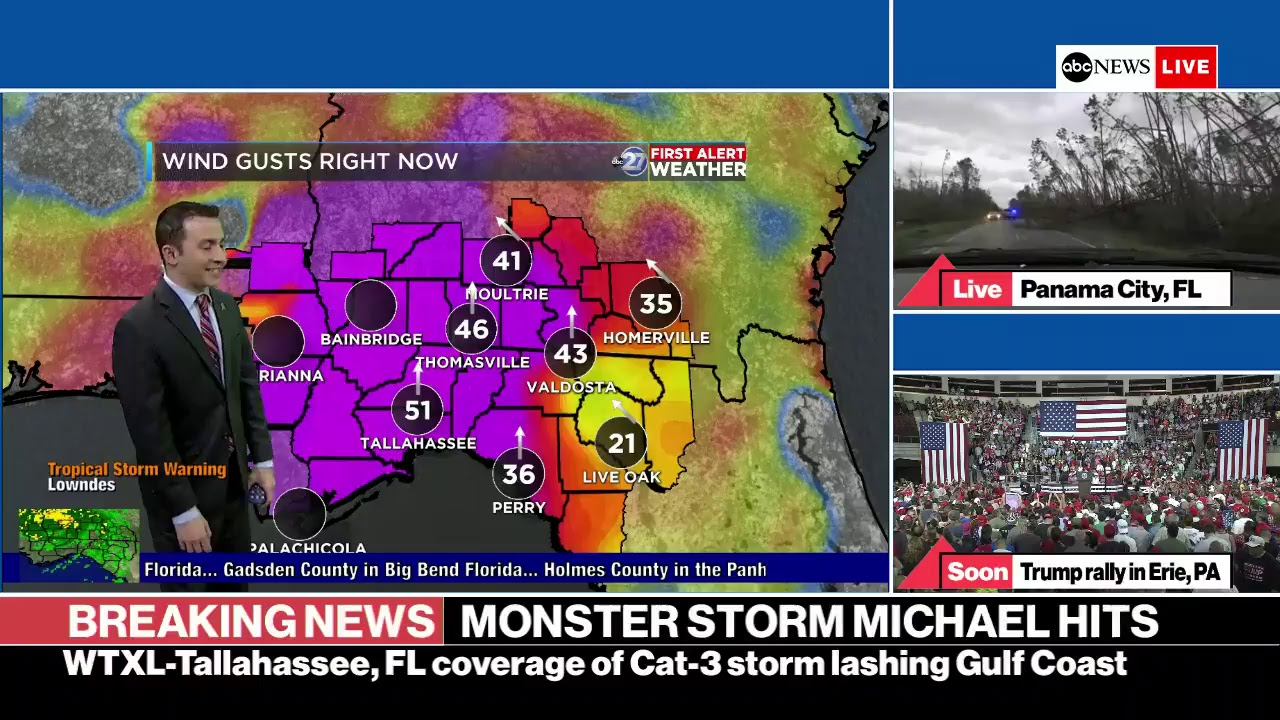Hurricane Michael barrels toward Florida as 'monstrous' Cat 4   ABC News