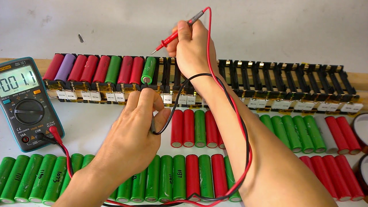 18650 Battery Different Voltage Models Parallel Charging Wiring