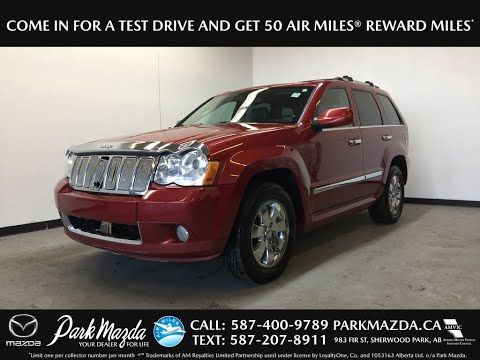 RED 2010 Jeep Grand Cherokee LTD Review Sherwood Park Alberta - Park Mazda