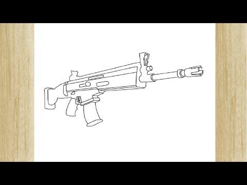 Como Dibujar Una Arma De Fortnite 5 Youtube