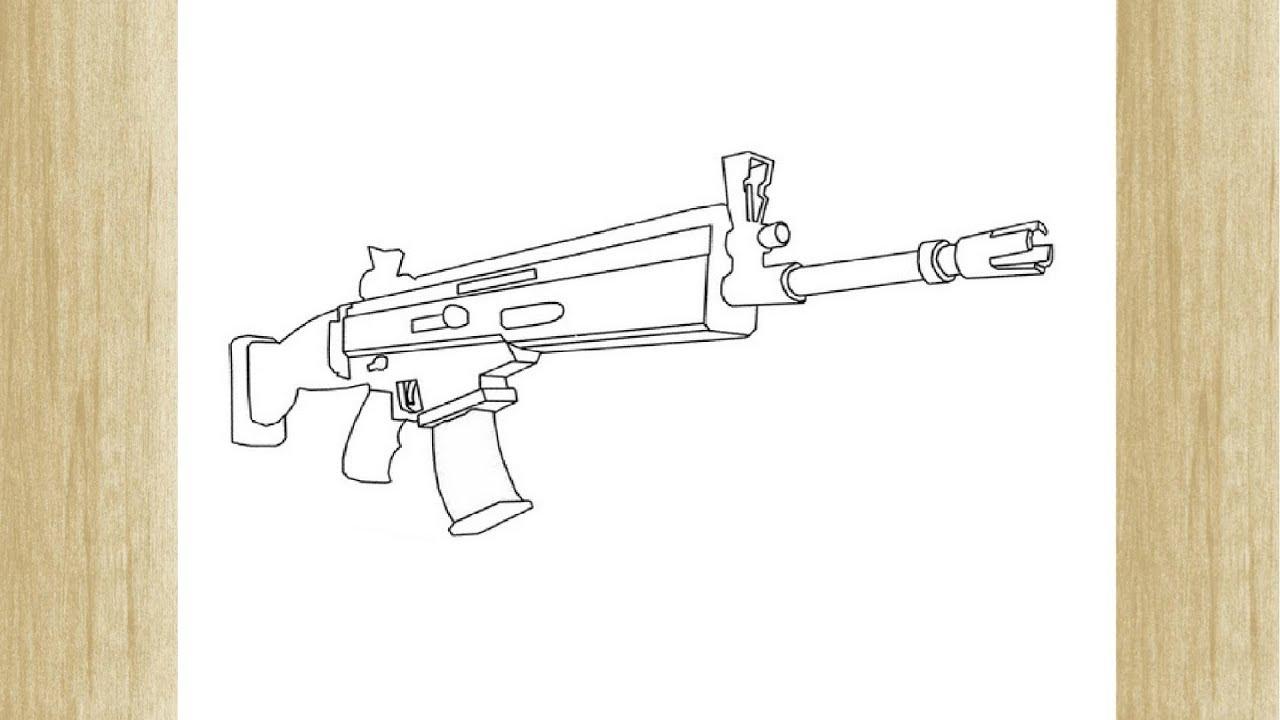 Como Dibujar Una Arma De Fortnite 5