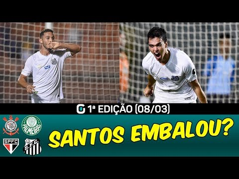 SANTOS classificado | CLÁSSICO domingo | RODADA do fim de semana | #GazetaEsportiva 1ªED. (08/03/19)