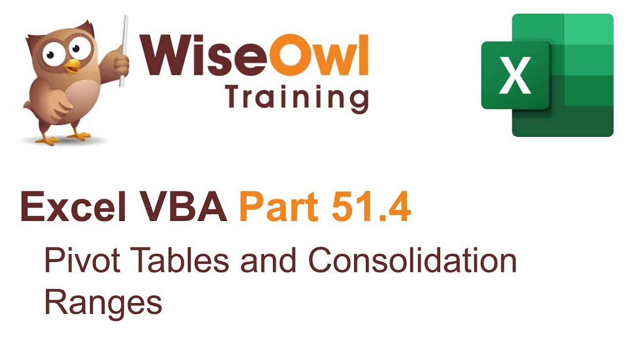 Excel vba introduction part 514 pivot tables and consolidation excel vba introduction part 514 pivot tables and consolidation ranges gamestrikefo Choice Image