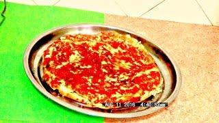 Экспресс пирог с сыром и творогом  на сковороде легко и просто