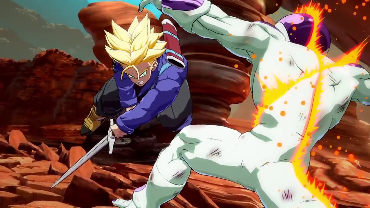 DRAGON BALL FighterZ Trunks vs Freezer Dramatic Finish