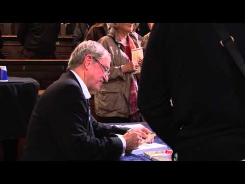 John Nettles signing his new book Jewels and Jackboots.