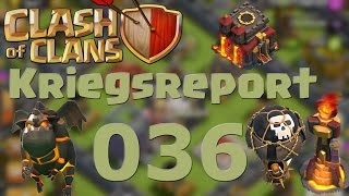 "COC [Kriegsreport #036] ""Lavaloonion gegen Rathaus 10"" 