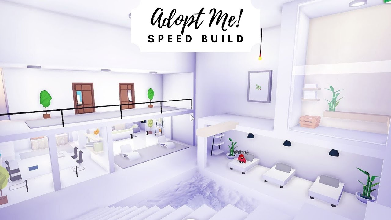 Modern Futuristic Home Speed Build Part 1 Roblox Adopt Me Youtube