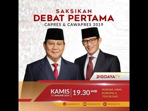 Live Debat Pertama Capres & Cawapres 2019