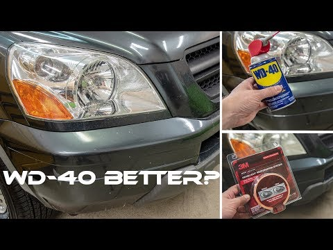 how to clean front headlights with wd40