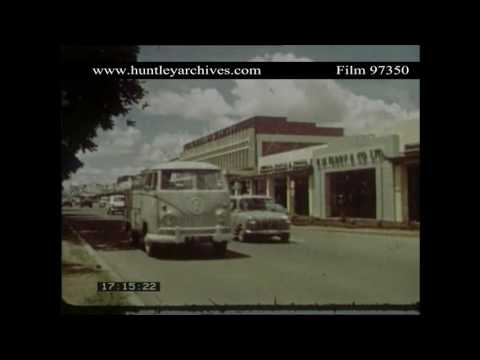 Lusaka in Zambia, 1960's.  Archive film 97350