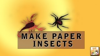 How to Make Paper Insects !! Easy For Children #Kids Craft Toy