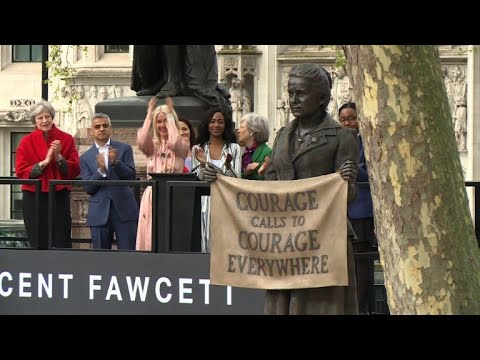 First female statue in UK's Parliament Square unveiled