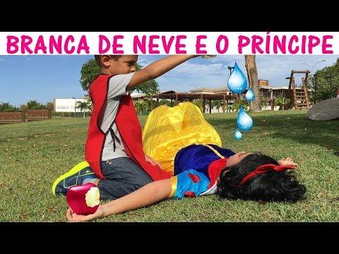 BRANCA DE NEVE E O PRINCIPE - Historinha Princesa Branca de Neve