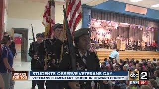 School named for veterans honors them on Veterans Day
