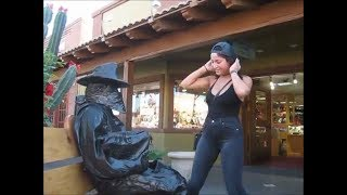 Bronze Cowboy! MOVING  Statue surprise! November 19 2017