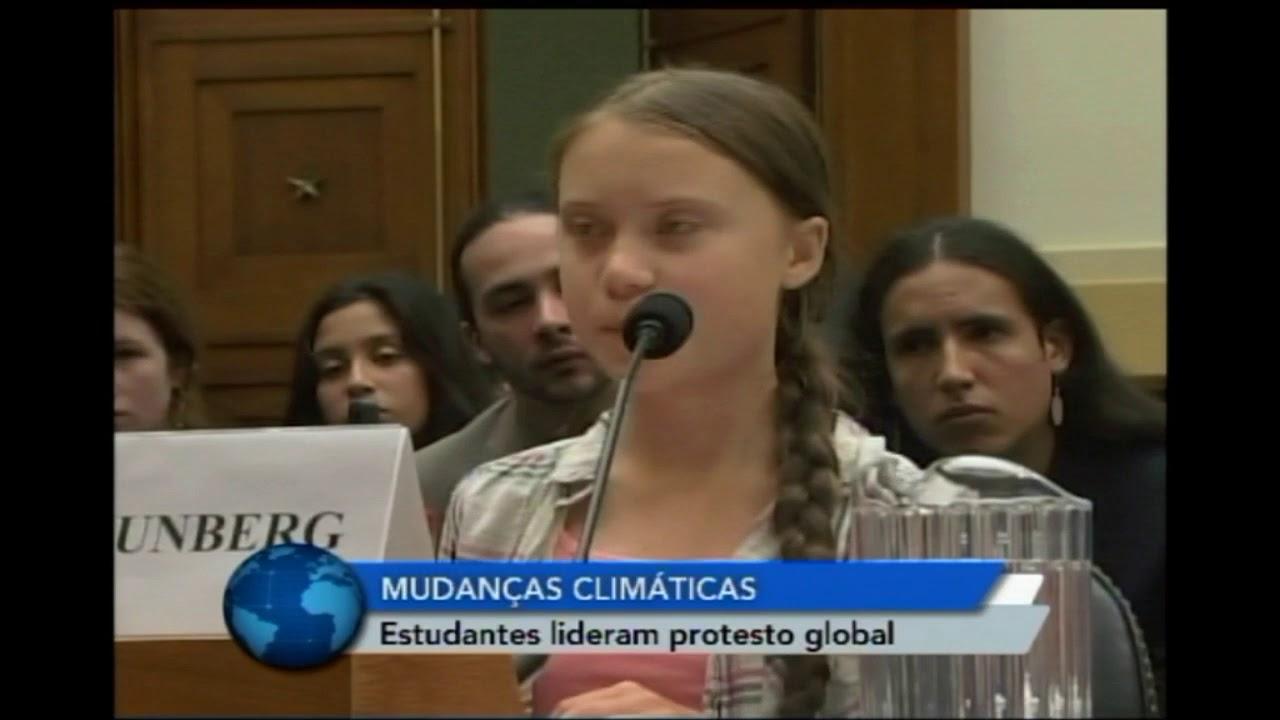 Resultado de imagem para Estudantes lideram protesto global contra mudança climática às vésperas da cúpula da ONU