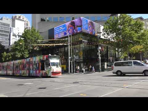 Melbourne Art tram by St Albans Heights Primary School's Community Hub D2 5002