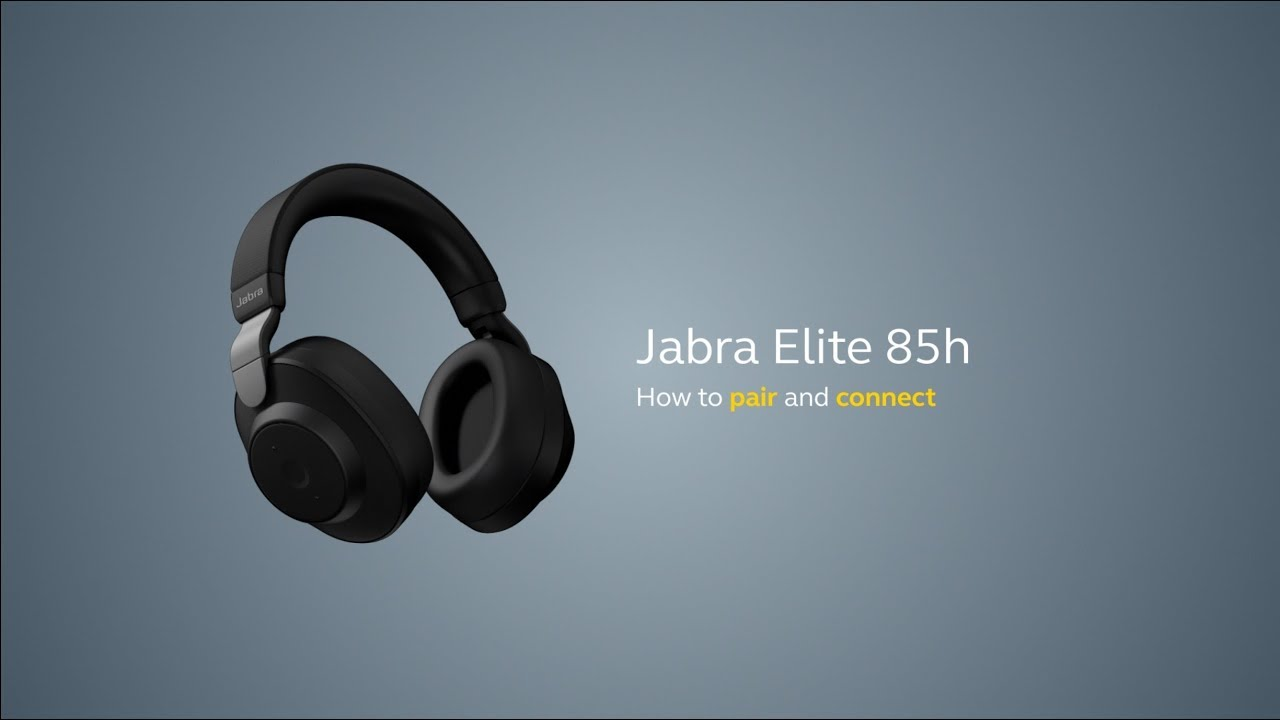 How To Pair Your Jabra Elite 85h With A Smartphone Youtube