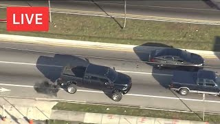 DIESEL TRUCK HIGH SPEED POLICE CHASE!