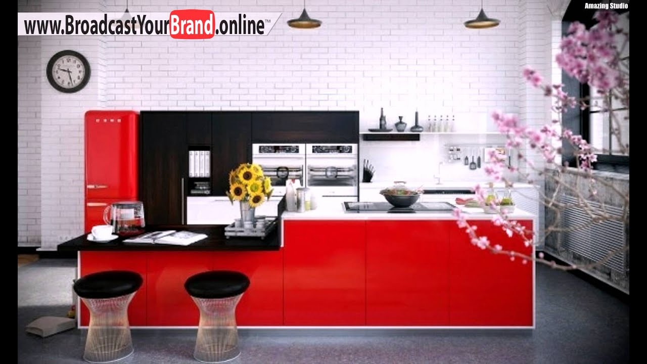 rote k che hochglanz fronten essplatz youtube. Black Bedroom Furniture Sets. Home Design Ideas