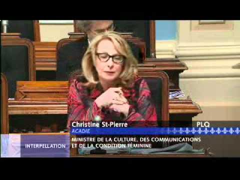 Interpellation de Christine St-Pierre par Pierre Curzi (30 mars 2012, intégral)