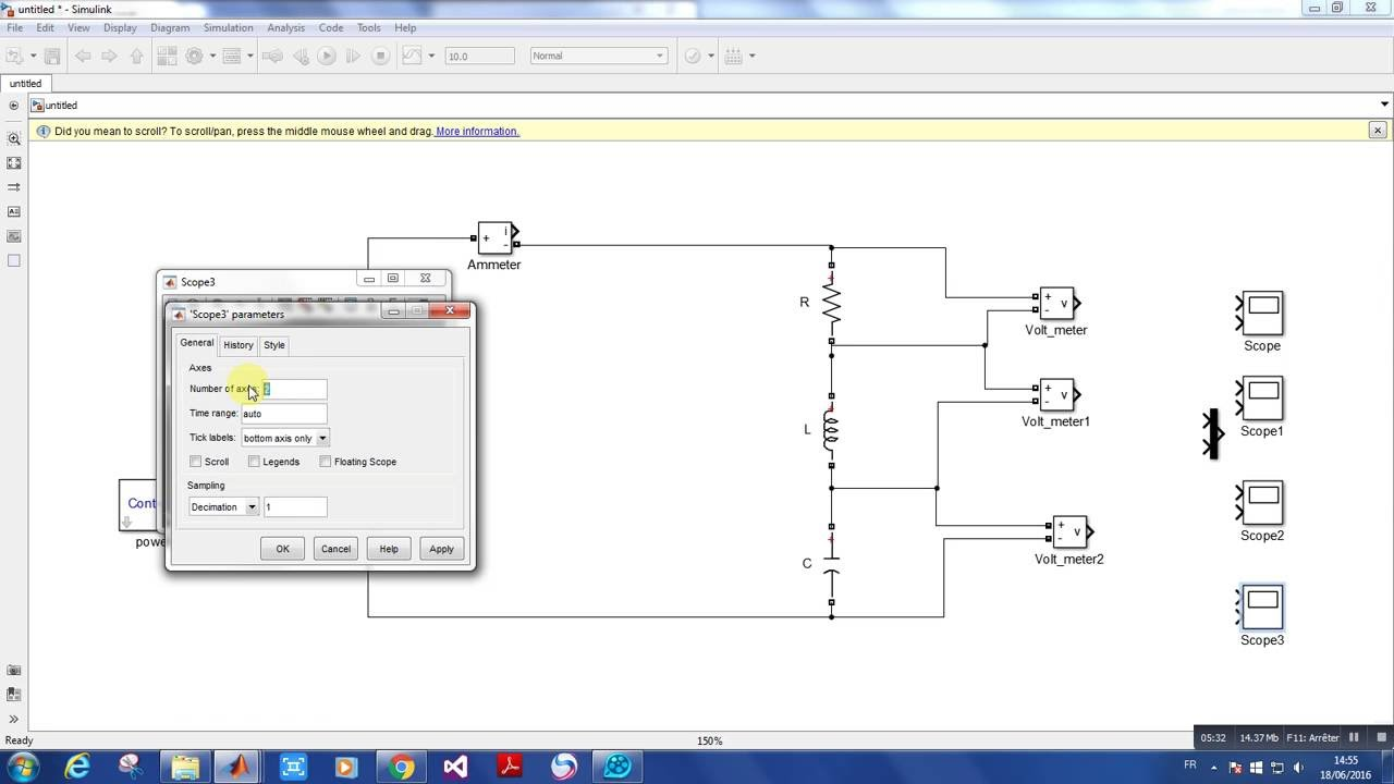hight resolution of rlc circuit in simulink