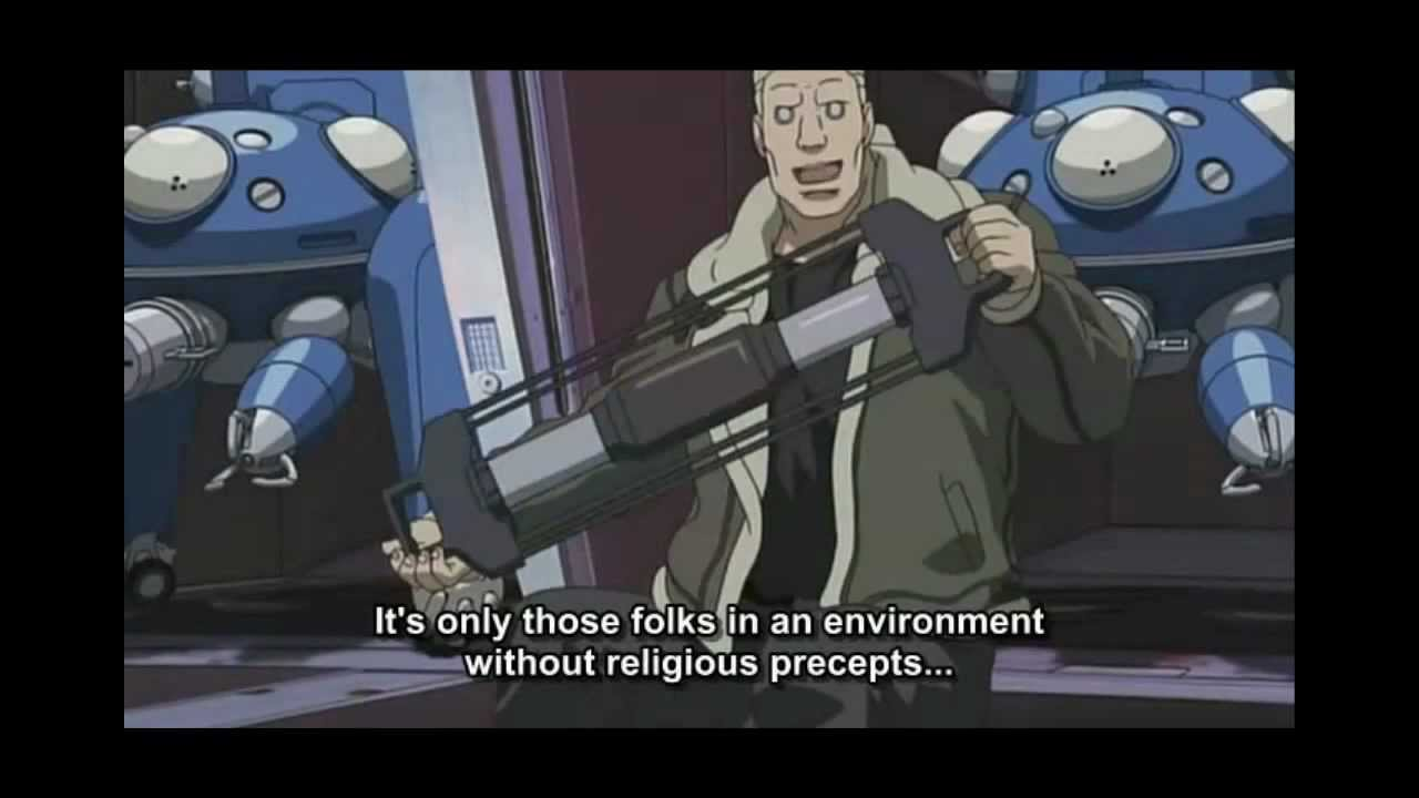 Gits Stand Alone Complex Major Motoko Kusanagi Vs Bato Ep8 Youtube