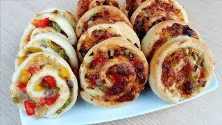 বাচ্চাদের টিফিন বিকালের নাস্তা পিজা রোল   Baccader Tiffin Bikaler Nasta Pizza Roll