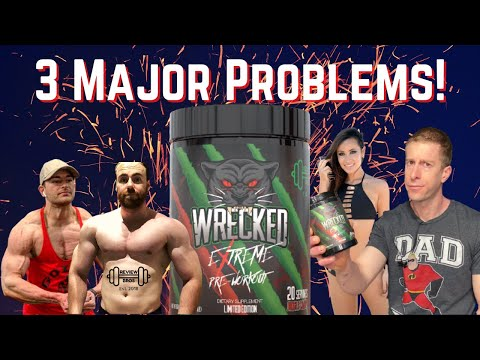 3 Huge Problems   Wrecked Extreme High Stim Pre Workout   Strongest Pre workout 2021@Review Bros
