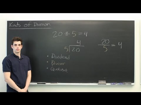 Kinds of Division : Mathematics: Division & More