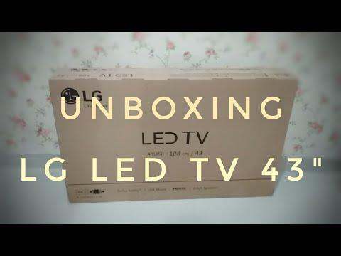 LG LED TV 43LJ50 43 inc - Unboxing di hari Natal 2017 - Indonesia