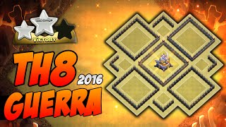 O Mais Top Layout Guerra Cv8 Completo   TH8 War Anti-Gowipe Anti-Hogs   Clash of Clans 2016
