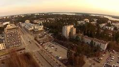 Espoo Espoonlahti ja Kivenlahti alueesta ilmakuvaa