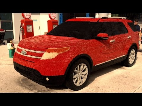 Full size car made out of Lego - the largest Lego car ever.