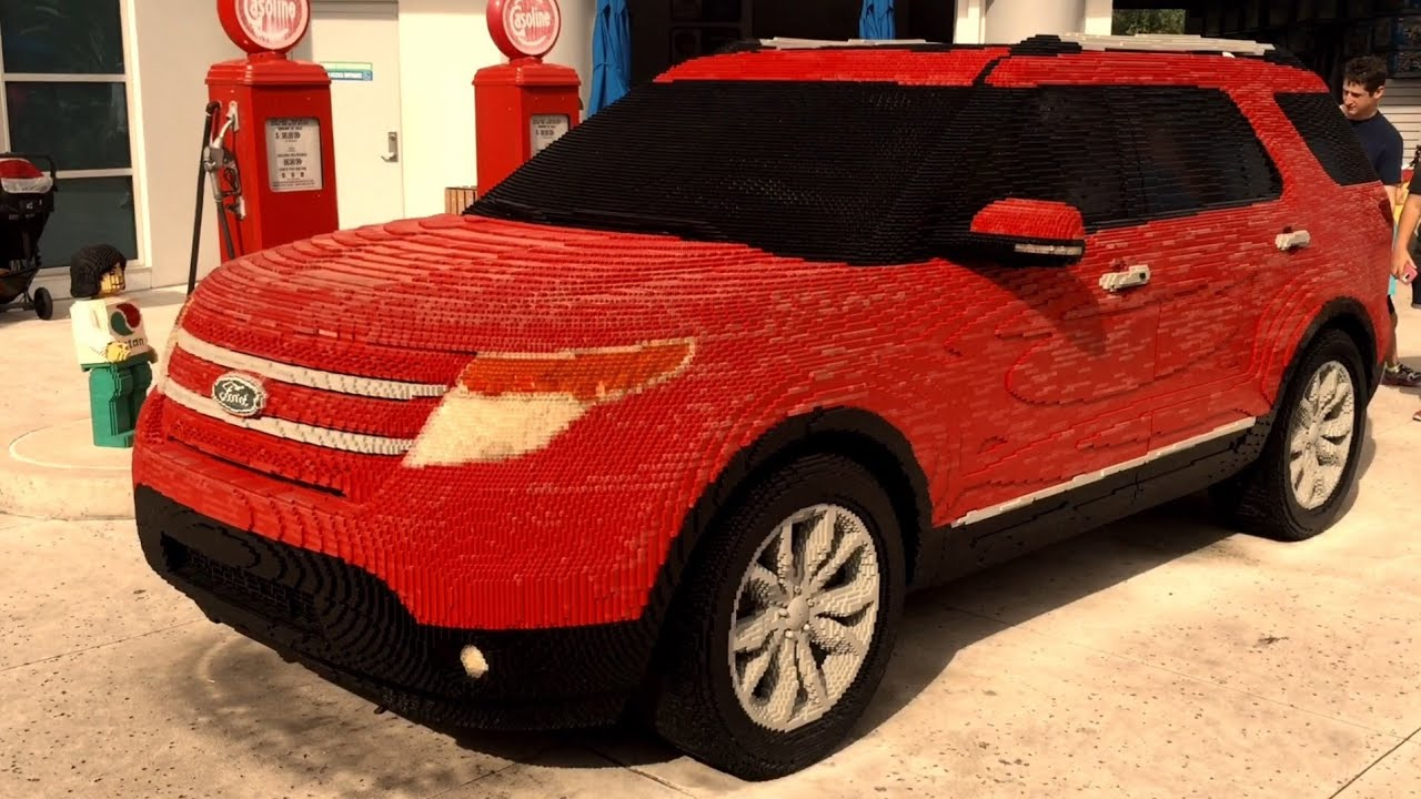 full size car made out of lego the largest lego car ever youtube. Black Bedroom Furniture Sets. Home Design Ideas