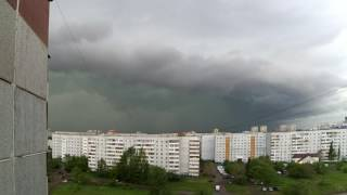 Ураган, ливень и град в Омске. 9 июня 2017