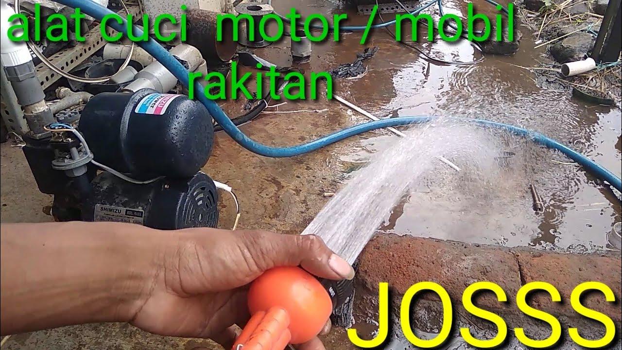 Merakit Alat Cuci Motor Menggunakan Mesin Pompa Air Youtube