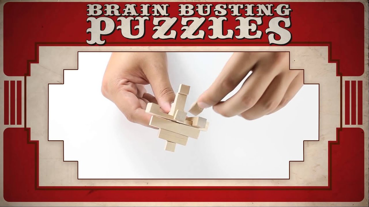 Brain Busting Puzzles - 4 Classic Wooden Puzzles - The Grid